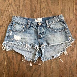 One Teaspoon Free People Cutoff Jean Shorts